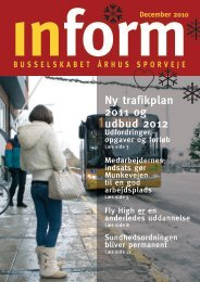 Ny trafikplan 2011 og udbud 2012 - Busselskabet Århus Sporveje