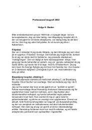 Professionel biografi 2002 Helge H. Baden Efter ... - fra DSGH
