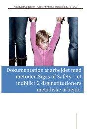 Rapport til Center for social inklusion - Børnehaven Valhalla i Nyborg