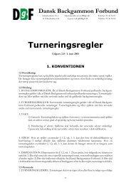 Turneringsregler - Dansk Backgammon Forbund