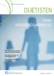 TEMA VIDEREUDDANNELSE - Foreningen af Kliniske Diætister