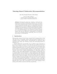 Ontology-Based Collaborative Recommendation - DePaul University