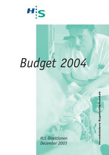 H:S Direktionen December 2003 - Hovedstadens Sygehusfællesskab