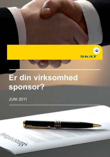 Er din virksomhed sponsor? - Skat