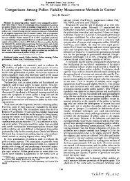 Comparisons Among Pollen Viability Measurement ... - The Jornada