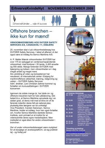 Offshore branchen – ikke kun for mænd! - Foreningen af ...