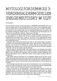 Mytologi for Dummies 3: Verdensaldermodellen ... - chresteria.dk