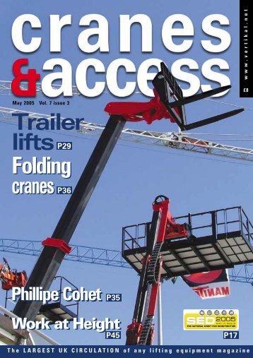 Trailer liftsp29 Folding cranes Folding cranesp36