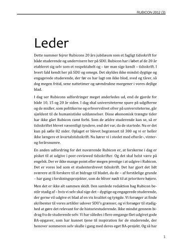 Læs som PDF - Rubicon - Syddansk Universitet