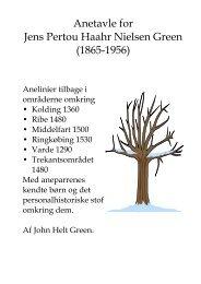 Anetavle for Jens Pertou Haahr Nielsen Green (1865-1956) - Lodberg