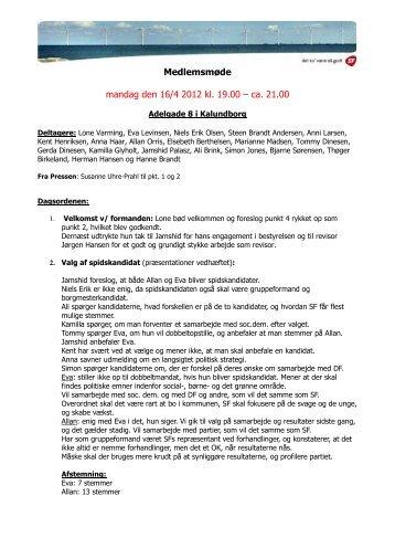 Referat 16.04.2012 - SF Kalundborg