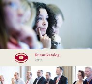 Kursuskatalog 2011 - Domstolene i Danmark