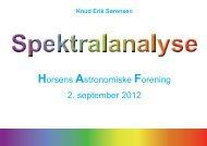 1209: Spektralklassifikation - Horsens Astronomiske Forening