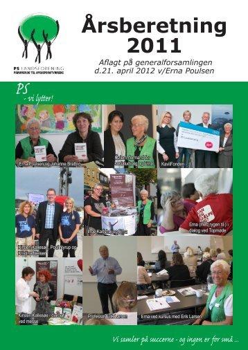 Årsberetning 2011 - PS Landsforening