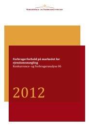 Forbrugerforhold på markedet for ejendomsmægling 2012