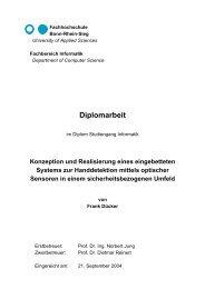 Konzeption und Realisierung eine eingebetteten Systems zur ...