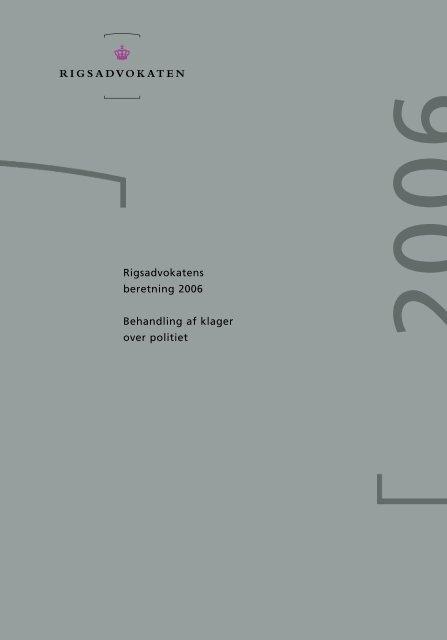 Rigsadvokatens beretning 2006 - Anklagemyndigheden