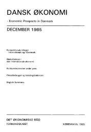 Dansk økonomi, december 1985 - De Økonomiske Råd