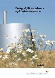 Energiafgift for erhverv og konkurrenceevne - DI