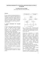 criterii moderne în concepţia sistemelor de iluminat interior