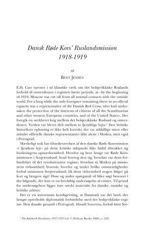 Dansk Røde Kors' Ruslandsmission 1918-1919 - Historisk Tidsskrift