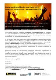 Download invitation og program for konferencen - Bibliotekarforbundet