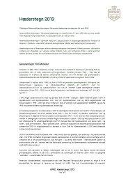 Hæderstegn 2013 - HPRD - Hovedorganisationen for Personel af ...