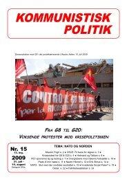 Kommunistisk Politik 15, 2009