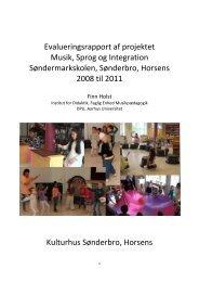 Evalueringsrapport af projektet Musik, Sprog og Integration ...