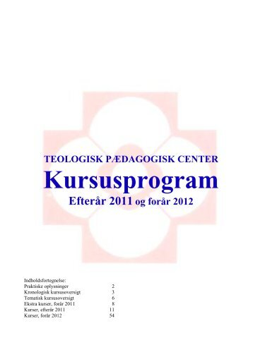 KURSUS 06/07 - Teologisk Pædagogisk Center