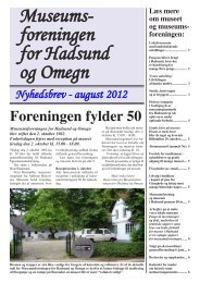 Museums- foreningen for Hadsund og Omegn