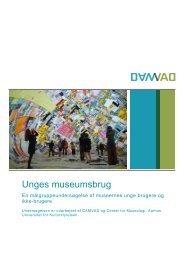 Unges museumsbrug - målgruppeundersøgelse - Kulturstyrelsen
