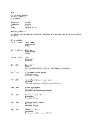 Niki Carl Jørgen Kristensen Åboulevarden 88B, st, th 8700 Horsens ...
