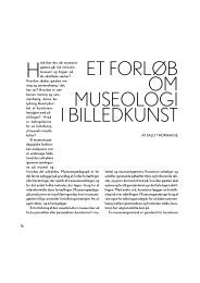Et forløb om MUSEOLOGI i Billedkunst af Sally Thorhauge - Emu
