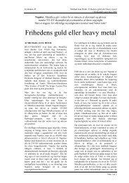 Michael Juul Holm: Frihedens guld eller heavy metal - Emu