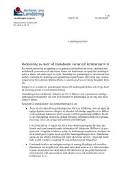 Missiv och rapport - Jämtlands läns landsting