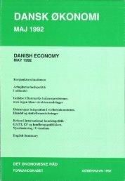 Dansk økonomi, maj 1992 - De Økonomiske Råd