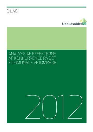 Analyse af effekterne af konkurrence på det kommunale vejområde