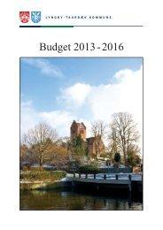 Budget 2013-16 - Lyngby Taarbæk Kommune
