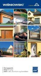 Garageporte Hegn til bolig Døre i stål, aluminium og ... - KJ Porte