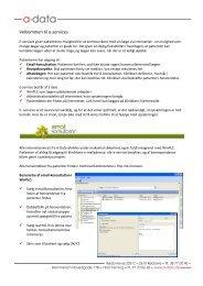 Quick-guide til brug af E-services i WinPLC - A-Data