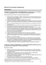 Referat organkirurgi workshop - Enheden for Brugerundersøgelser