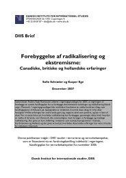 Forebyggelse af radikalisering og ekstremisme - DIIS