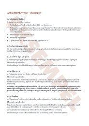 Eksempel på uddrag af en arbejdsbeskrivelse, svarende til ...