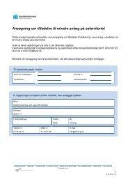 Ansøgning om tilladelse til mindre anlæg på søterritoriet