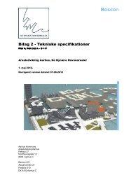Bilag 2 - Tekniske specifikationer - De bynære havnearealer