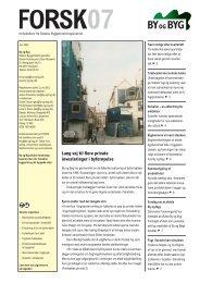 Læs artiklen på side 3 i Forsk07 fra By og Byg her - Papiruld