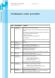 Forløbsplan under graviditet - EPIS - Gentofte Hospital