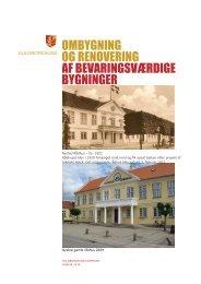 pjece om ombygning og renovering af bevaringsværdige bygninger