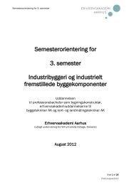 Semesterorientering for 3. semester - Erhvervsakademi Aarhus